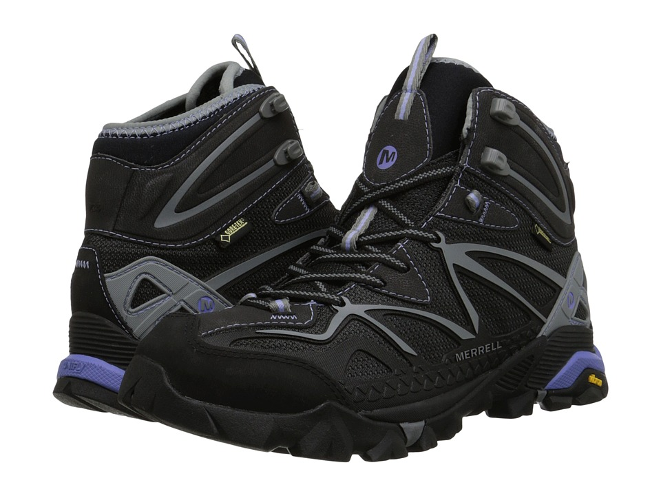 Merrell Capra Mid Sport GORE TEX Black/Grey Womens Hiking Boots