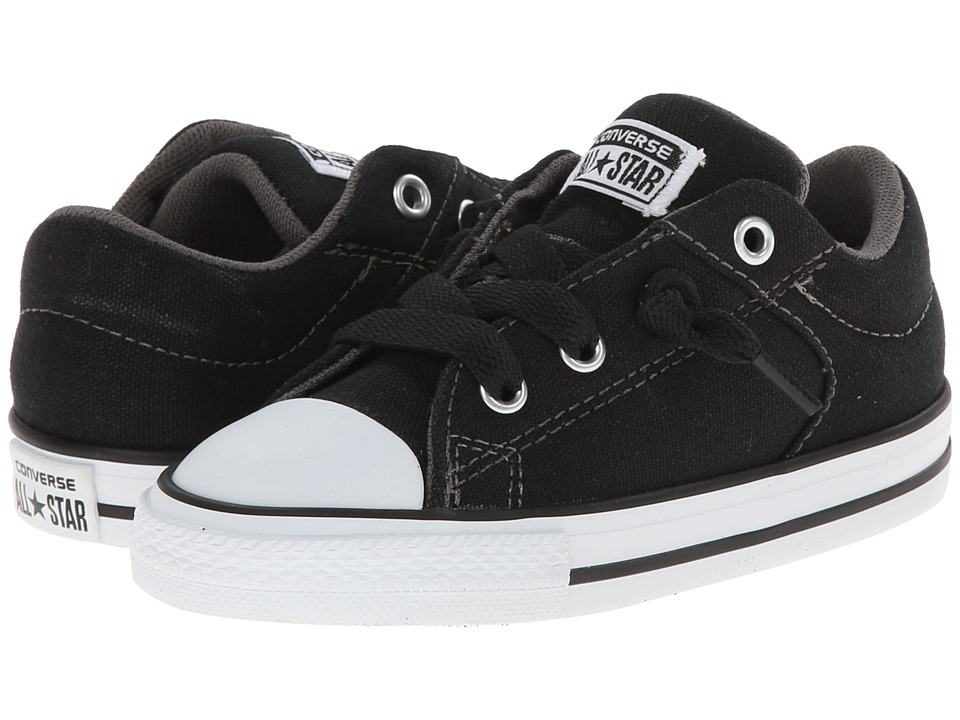 Converse Kids Chuck Taylor All Star High Street Slip Infant/Toddler Black Boys Shoes