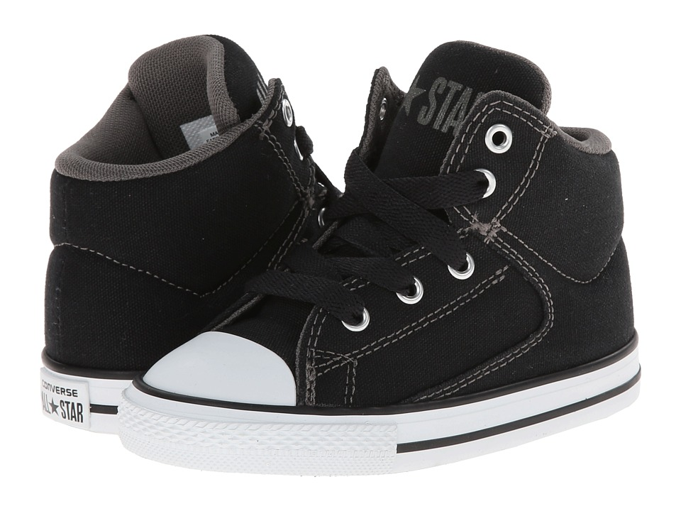 Converse Kids - Chuck Taylor All Star High Street Hi (Infant/Toddler) (Black) Boys Shoes