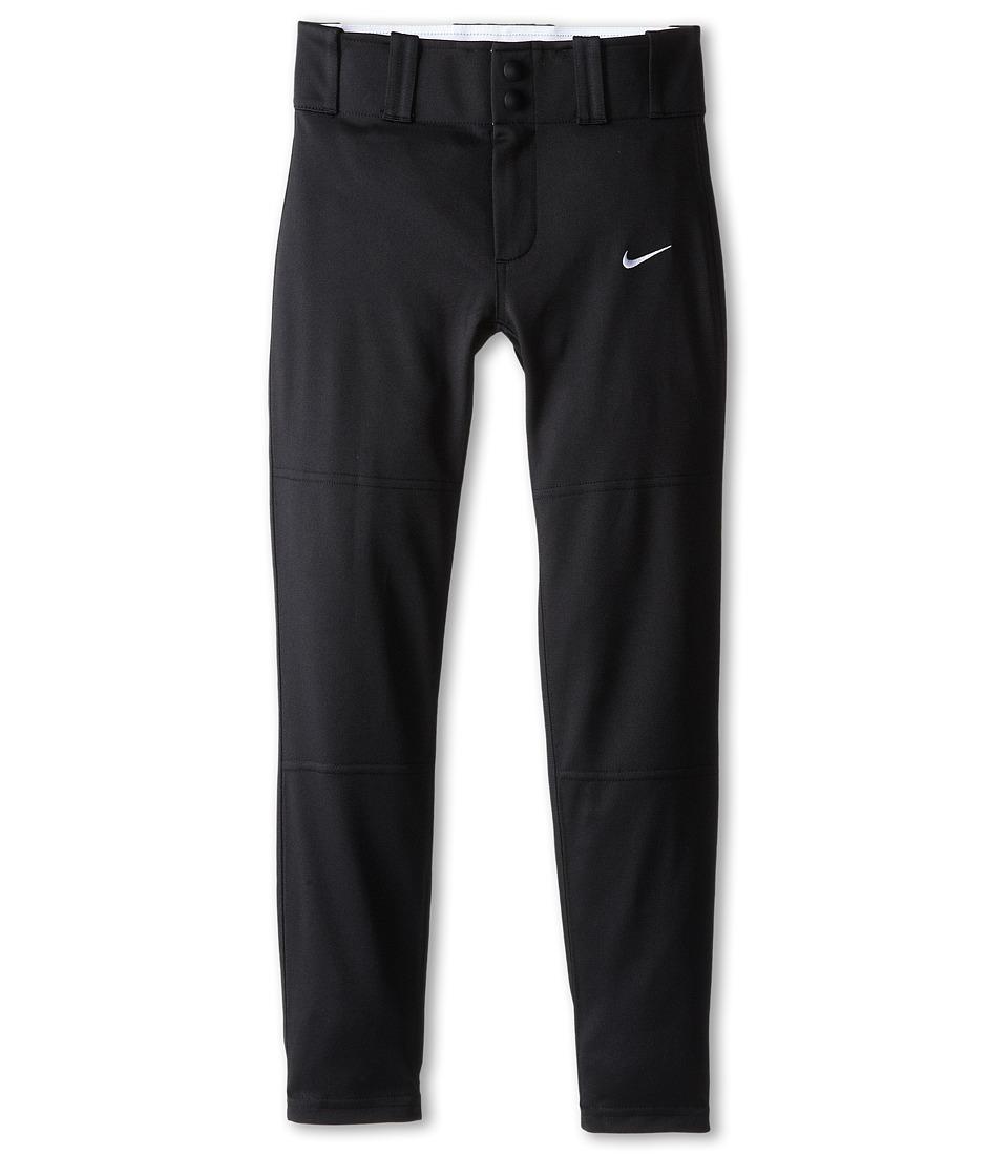 Nike Kids Baseball Core Dri FIT Open Hem Pant Little Kids/Big Kids Team Black/Team White Boys Workout