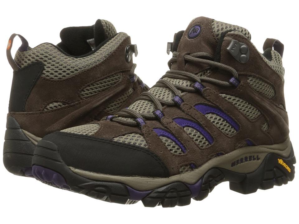 Merrell Moab Ventilator Mid (Bracken/Purple) Women's Hiking Boots