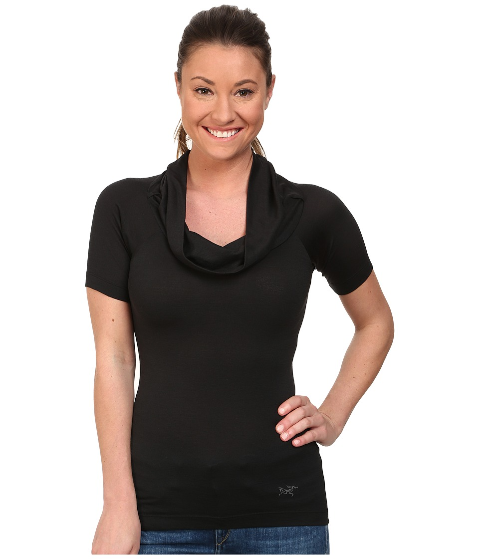 Arcteryx A2B Top Black 2 Womens Short Sleeve Pullover