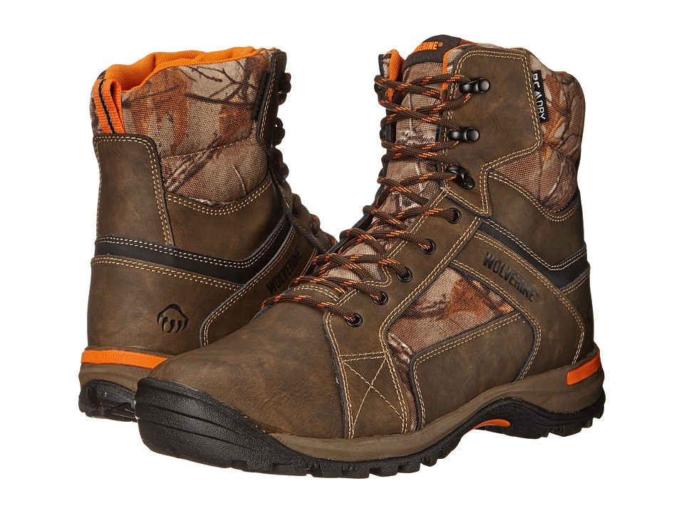 Wolverine Sightline 7 Inch Soft Toe Boot Natural/Realtree Mens Work Lace up Boots