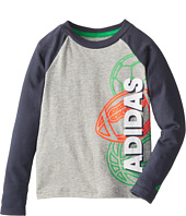 adidas Kids - Make It Count L/S Tee (Toddler/Little Kids)
