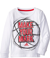 adidas Kids - Make Your Mark L/S Tee (Toddler/Little Kids)