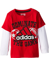 adidas Kids - Dominate The Game L/S Tee (Toddler/Little Kids)