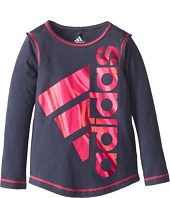 adidas Kids - Big Logo Tee (Toddler/Little Kids)
