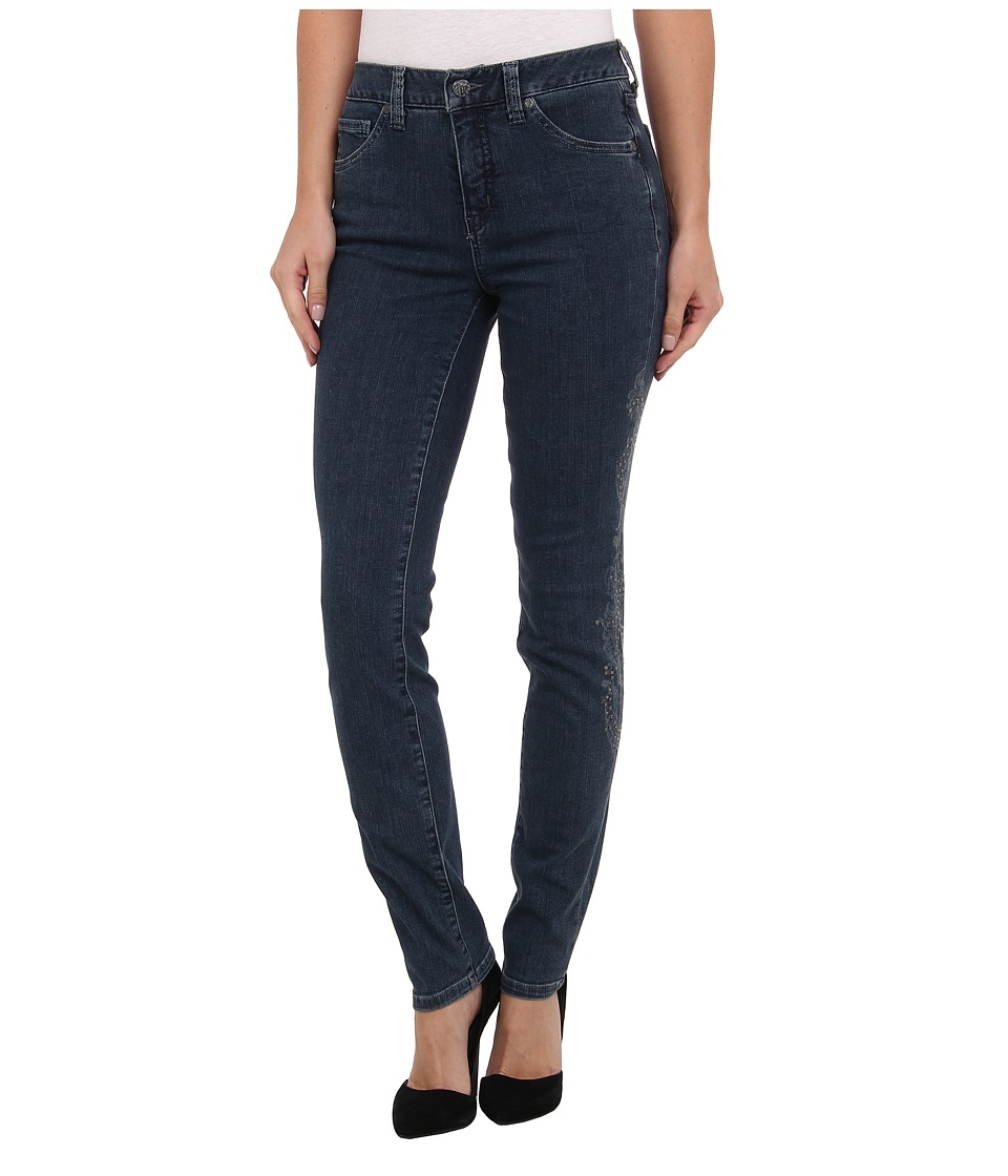Miraclebody Jeans Five-Pocket Skinny Minnie w/ Lazer Print and Metalic Studs in Walden (Walden) Women's Jeans