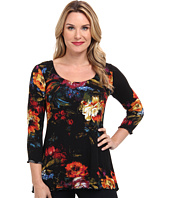 Miraclebody Jeans - BFF Floral Still Life Top w/ Body-Shaping Inner Shell