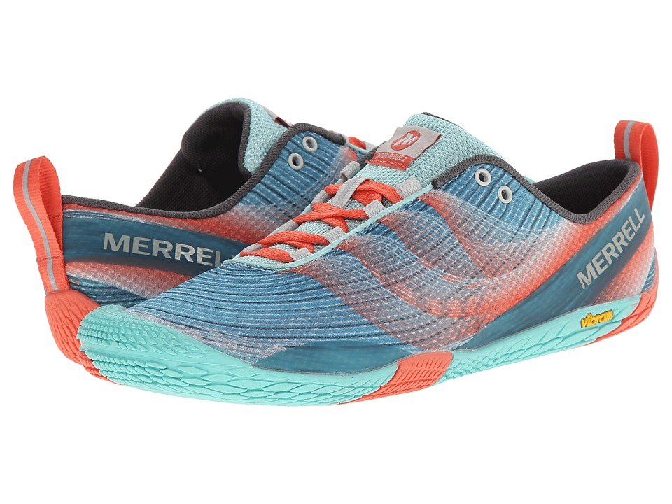 Merrell - Vapor Glove 2 (Sea Blue/Coral) Womens Shoes