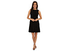 Donna Morgan Sleeveless Dress w/ Hip Flounce (Black)