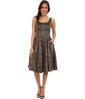 Donna Morgan - Woven Strapless Jacquard Fill Skirt Dress
