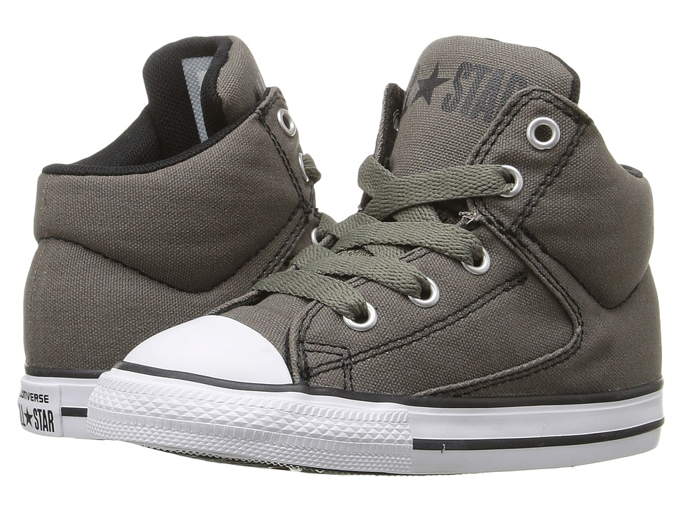 Converse Kids - Chuck Taylor All Star High Street Hi (Infant/Toddler) (Charcoal) Boys Shoes