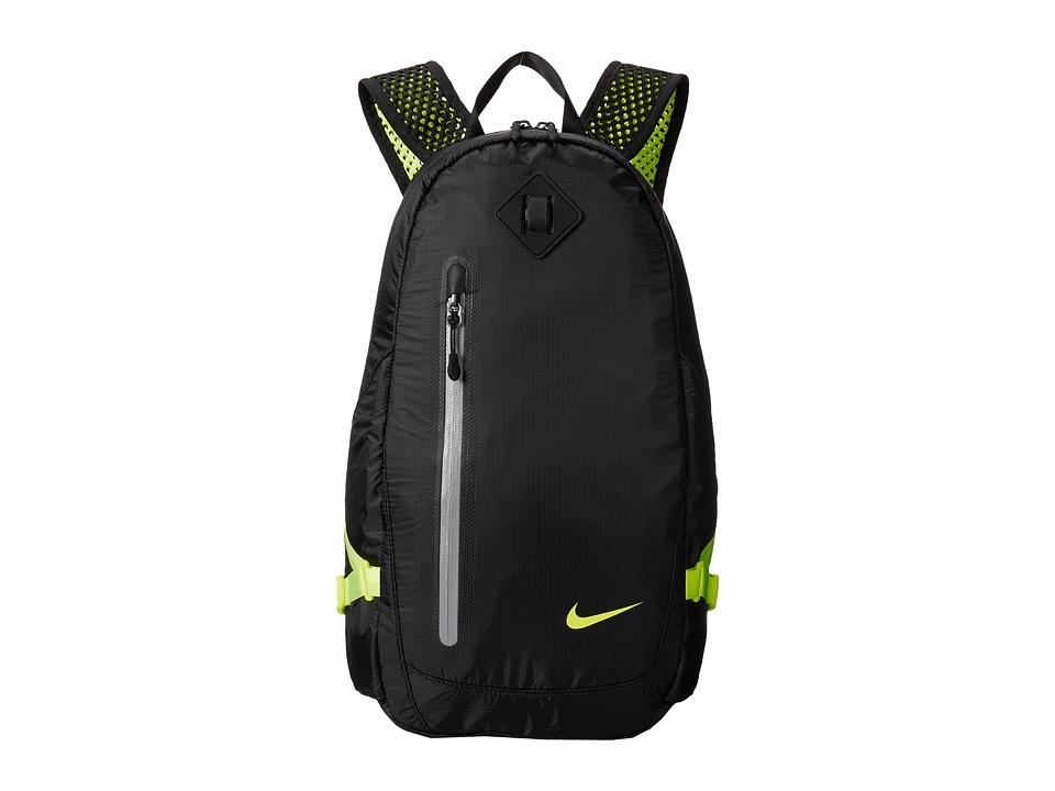 Nike - Vapor Lite Backpack (Black/Volt/Volt) Backpack Bags