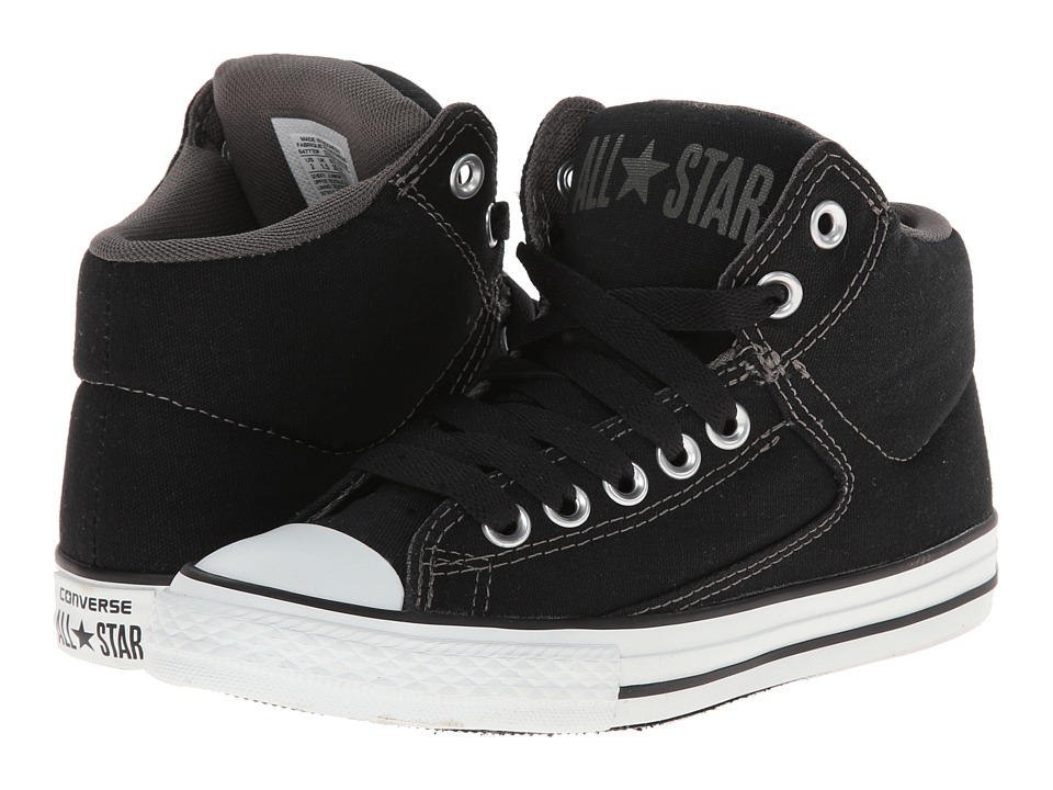 Converse Kids - Chuck Taylor All Star High Street Hi (Little Kid/Big Kid) (Black) Boys Shoes