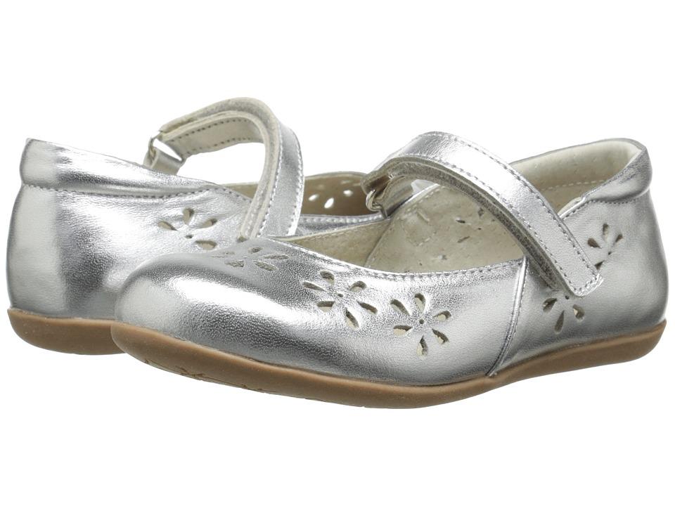 See Kai Run Kids Ginger Toddler/Little Kid Silver Girls Shoes