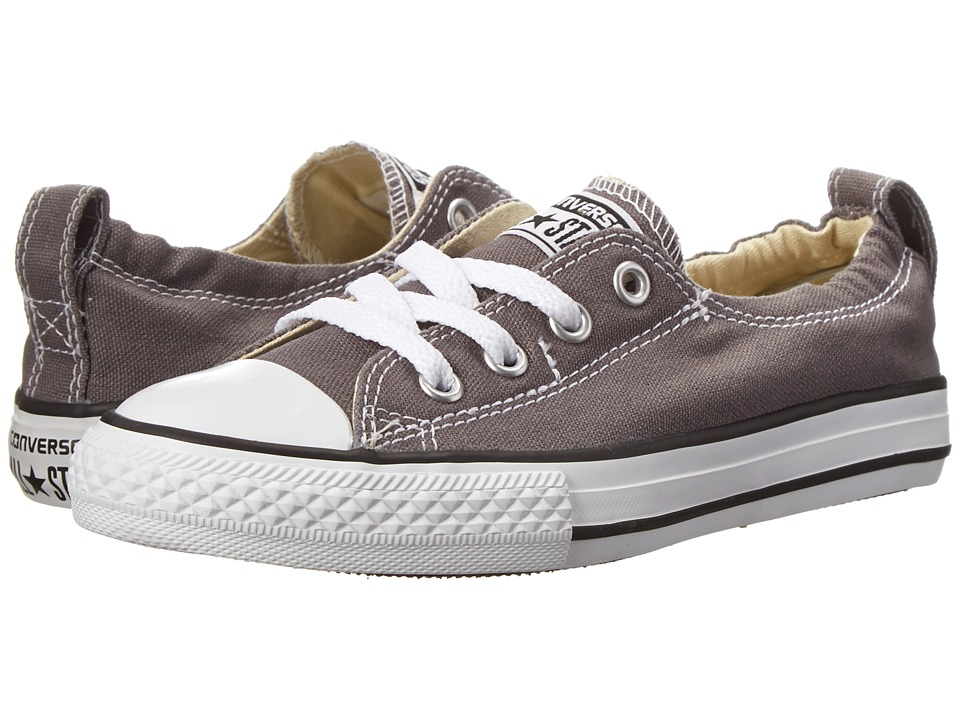 Converse Kids Chuck Taylor All Star Shoreline Slip (Little Kid/Big Kid) (Charcoal) Girls Shoes