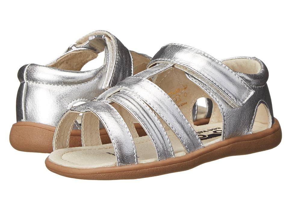 See Kai Run Kids Fe Toddler Silver Girls Shoes