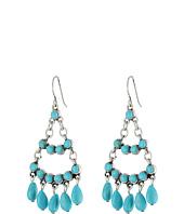 LAUREN by Ralph Lauren - Bar Harbor Medium Turquoise Cabs and Beads Chandelier Earrings