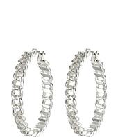 LAUREN by Ralph Lauren - Bar Harbor Large Frozen Chain Click-It Hoop Earrings