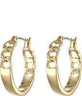 LAUREN by Ralph Lauren - Bar Harbor Small Frozen Chain Click-It Hoop Earrings