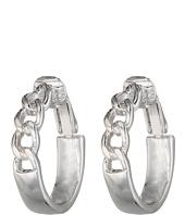 LAUREN by Ralph Lauren - Bar Harbor Small Frozen Chain Clip Hoop Earrings