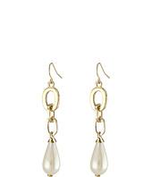LAUREN by Ralph Lauren - Bar Harbor Metal Link w/ Pearl Linear Earrings