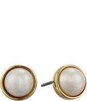 LAUREN by Ralph Lauren - Bar Harbor 6mm Bezel Set Pearl Stud Earrings