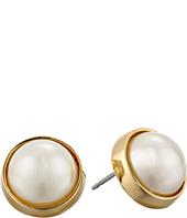 LAUREN by Ralph Lauren - Bar Harbor 10mm Bezel Set Pearl Stud Earrings
