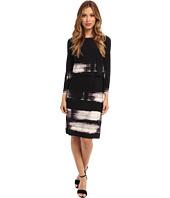 Donna Morgan - Jersey Popover Brush Stroke Print Dress