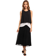 Donna Morgan - Crop Dress with Sunburst Pleating