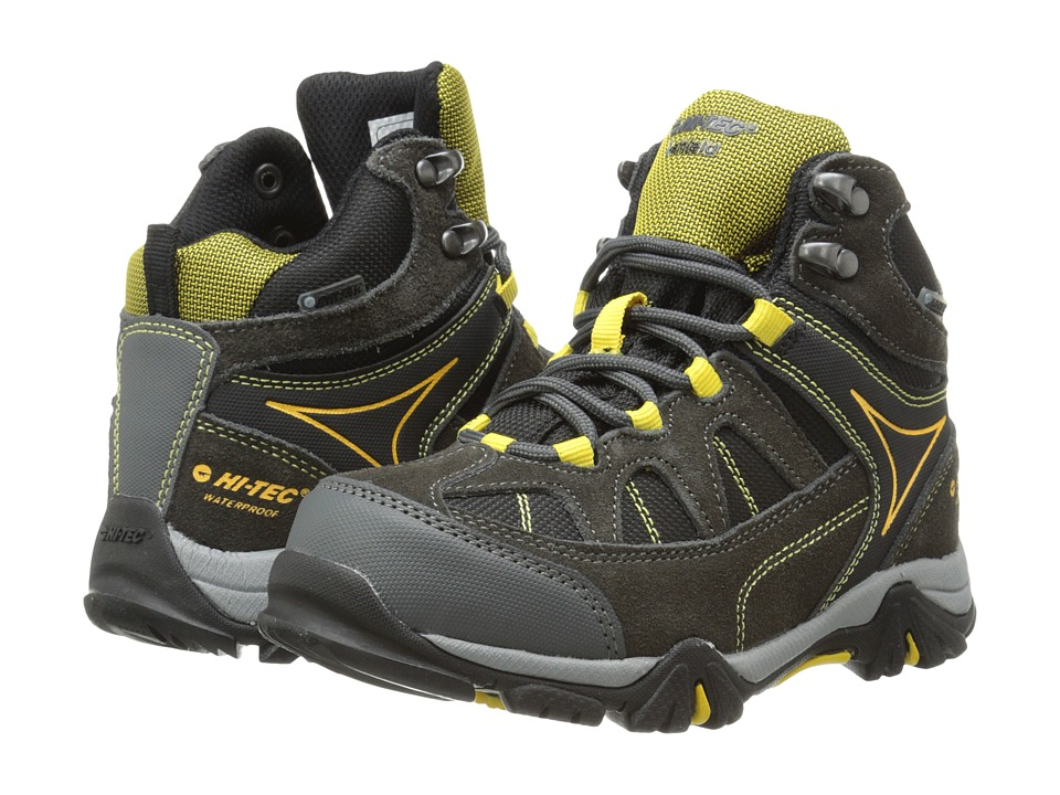 Hi-Tec Kids Altitude Lite I WP (Toddler/Little Kid/Big Kid) (Charcoal/Black/Sunray) Boy's Shoes