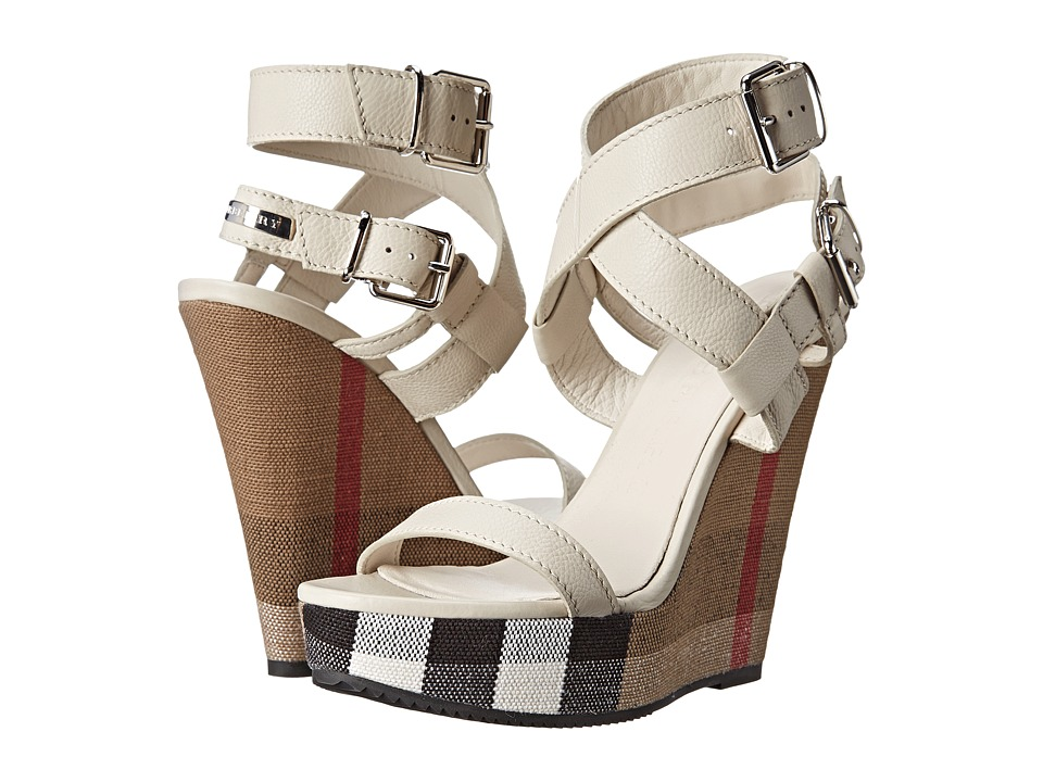 Burberry Goldfinch Stone Womens Wedge Shoes