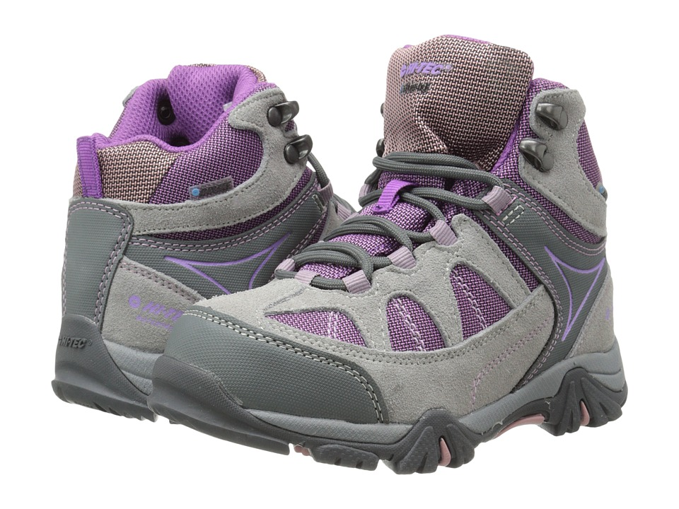 Hi Tec Kids Altitude Lite I WP Toddler/Little Kid/Big Kid Warm Grey/Orchid/Horizon Girls Shoes