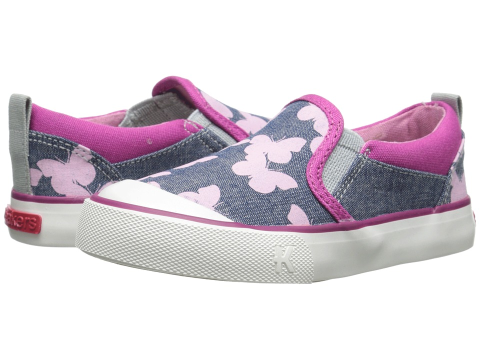 See Kai Run Kids Italya Toddler/Little Kid Blue Girls Shoes