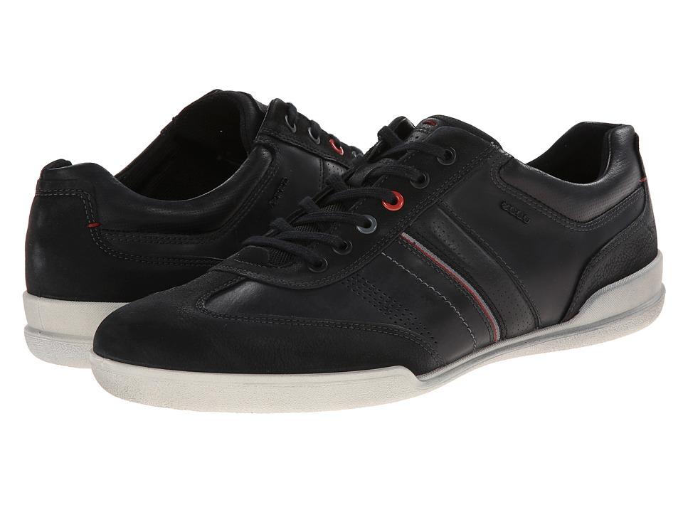 ECCO - Enrico Retro Sneaker (Black/Black) Men