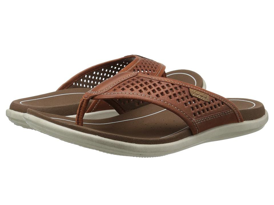 ECCO - Collin Sandal Thong (Cognac/Whiskey) Men's Sandals