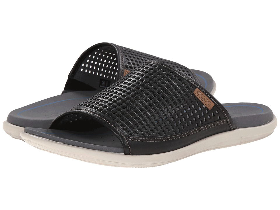 ECCO - Collin Sandal (Black/Whiskey) Men's Sandals