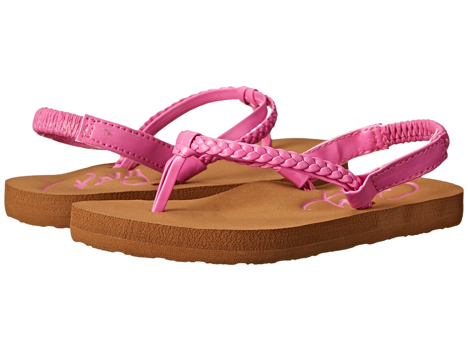 Roxy Kids Cabo Toddler Hot Pink Girls Shoes