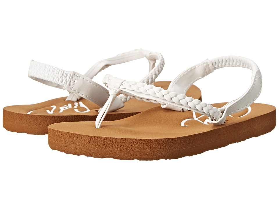 Roxy Kids Cabo Toddler White Girls Shoes