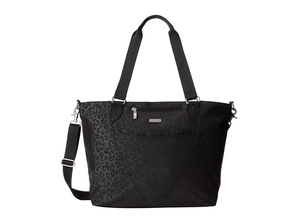 Baggallini Avenue Tote Black/Cheetah Tote Handbags
