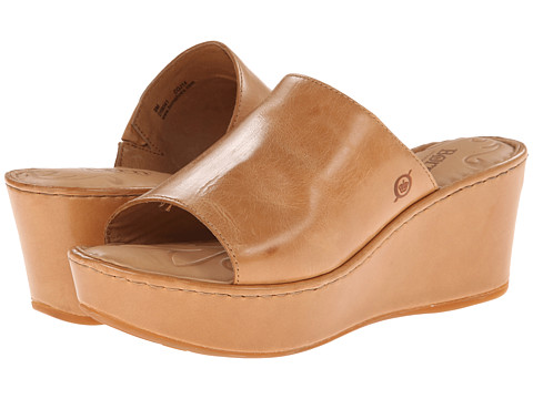 Born Tilda (Luggage (Light Brown) Full-Grain Leather) Women's Wedge Shoes