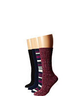 Steve Madden - 4 Pack Marl and Solid Boot Sock