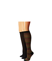 Steve Madden - 6 Pack Stripe and Solid Knee High
