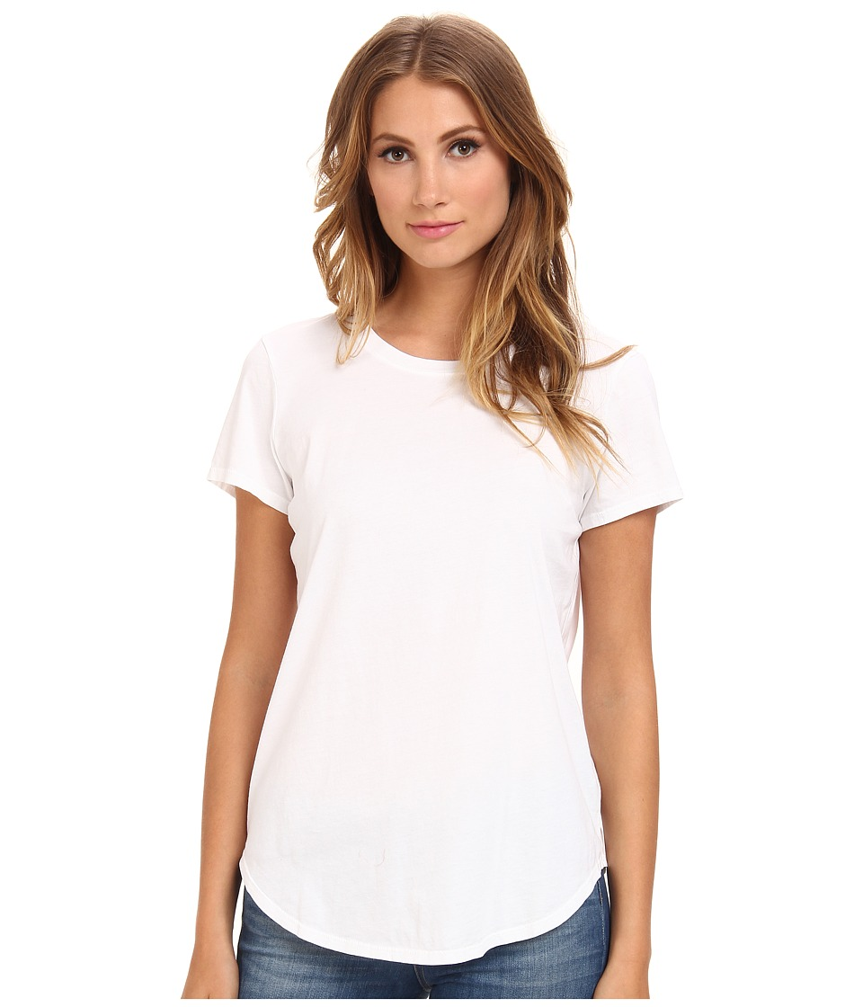 Michael Stars Dream Tees Short Sleeve Crew Neck Top (White) Women