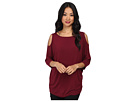 Michael Stars Lycra Jersey 3/4 Sleeve Cold Shoulder Tunic