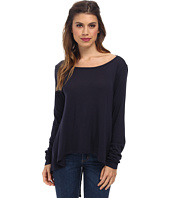Michael Stars - Luxe Slub Long Sleeve Split Back