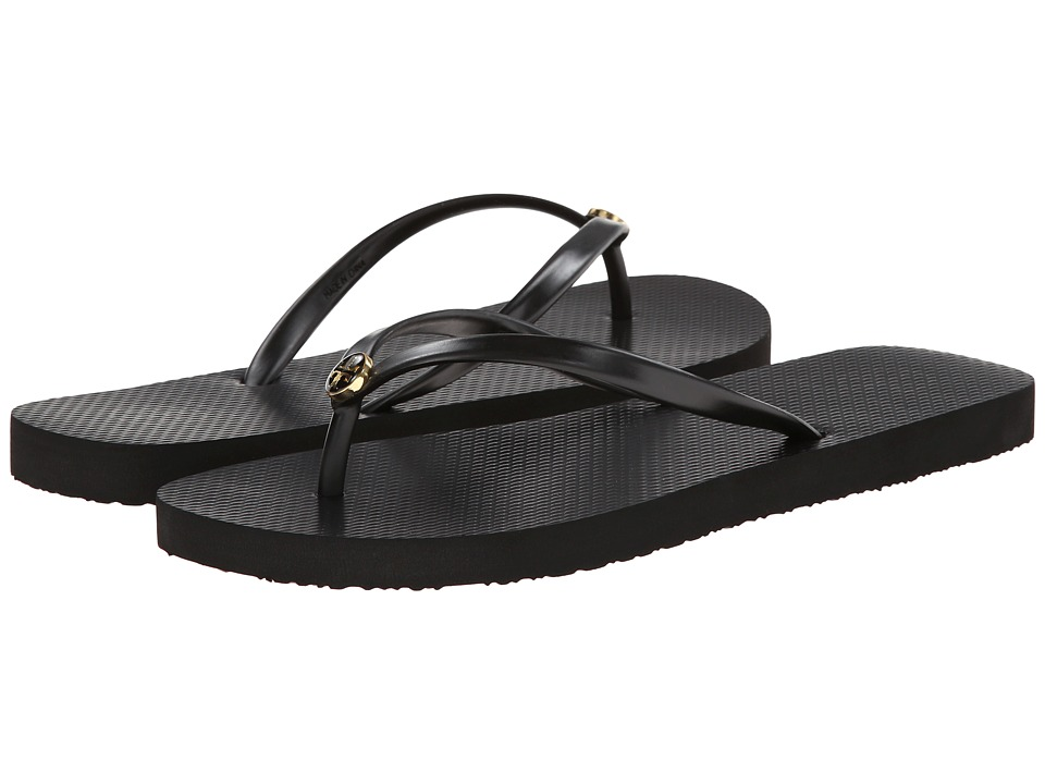 Tory Burch Thin Flip Flop (Black/Black) Sandals