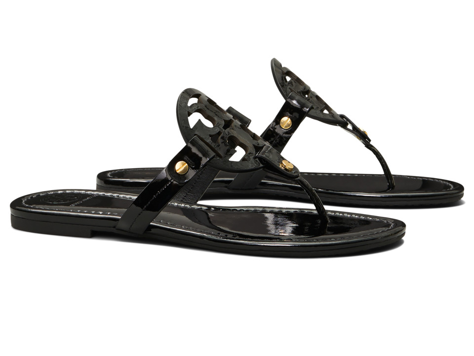 Tory Burch Miller Flip Flop Sandal (Black II) Women's Shoes
