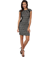 Adrianna Papell - Netting Insets Sheath Dress
